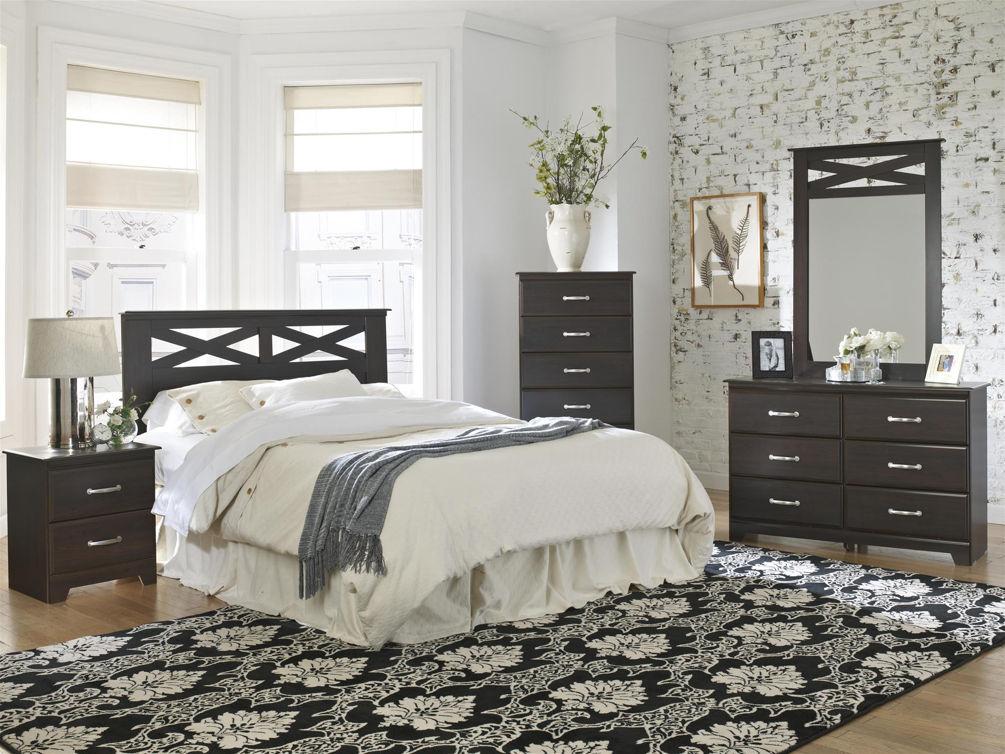 Discount adult bedroom set family discount furniture for Cheap black bedroom sets